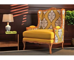 Adire Lounge Chair (Mustard Coral)