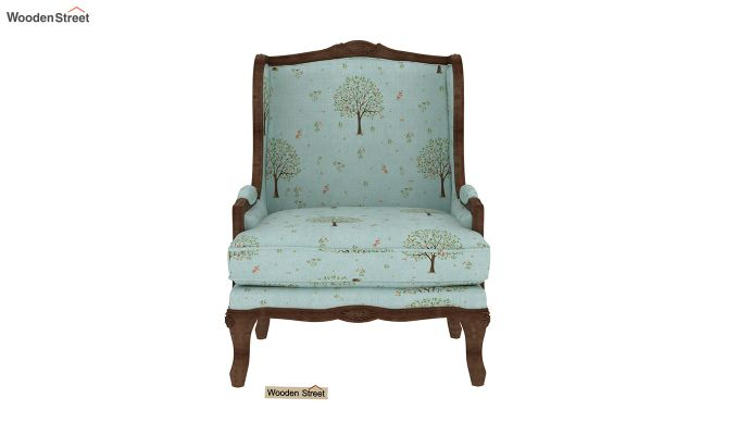 Adire Wingback Chair (Linen, Teal Pomme)-3
