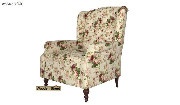 Botox Wingback Chair (Cream Blossom)-3