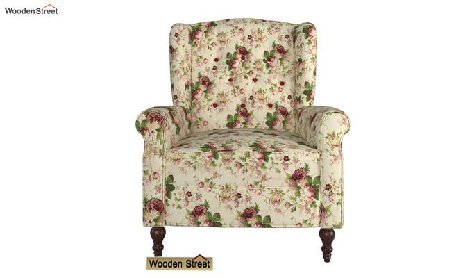 Botox Wingback Chair (Cream Blossom)-2