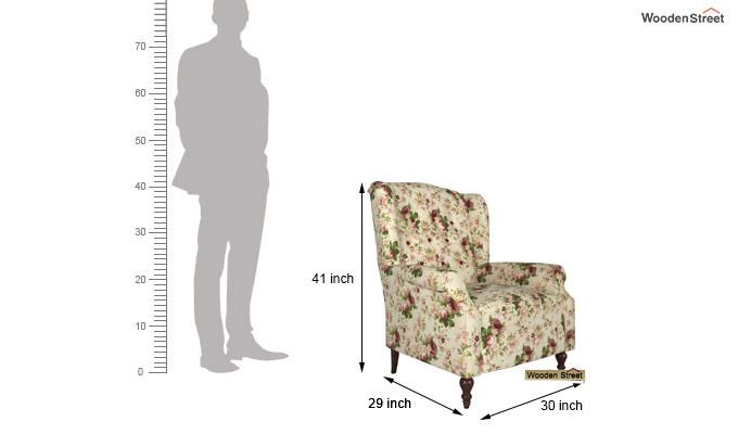 Botox Wingback Chair (Cream Blossom)-4