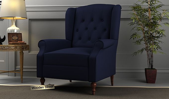 Botox Wingback Chair (Indigo Ink)-1