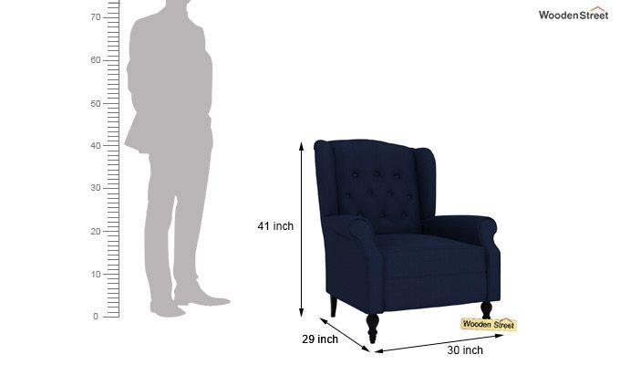 Botox Wingback Chair (Indigo Ink)-4