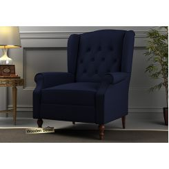 Botox Wingback Chair (Indigo Ink)