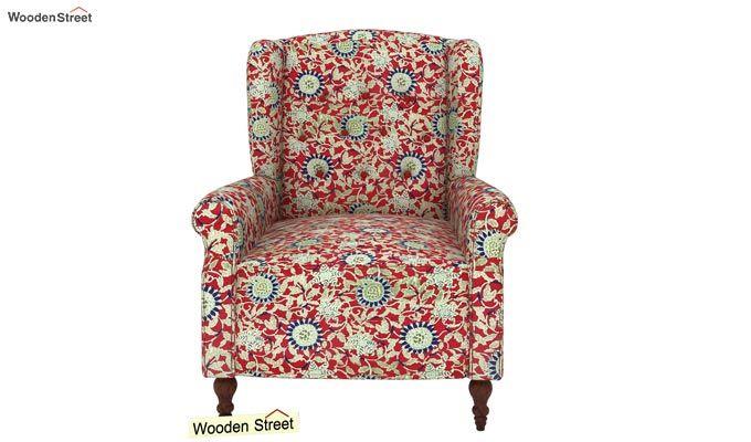 Botox Wingback Chair (Scarlet Blue)-3