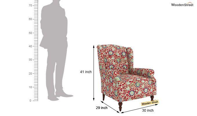 Botox Wingback Chair (Scarlet Blue)-4