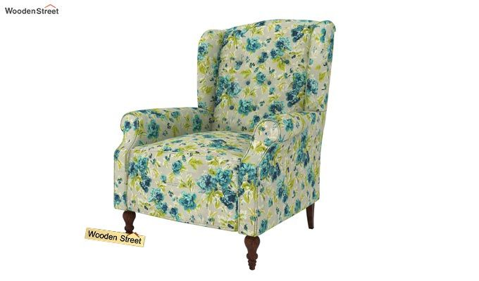Botox Wingback Chair (Teal Tulip)-2