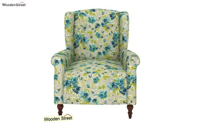 Botox Wingback Chair (Teal Tulip)-3