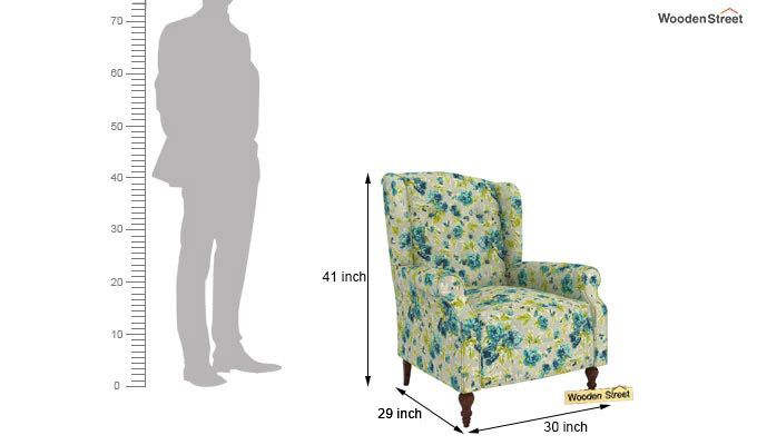 Botox Wingback Chair (Teal Tulip)-4