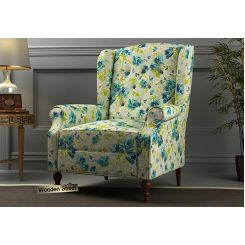 Botox Wingback Chair (Teal Tulip)