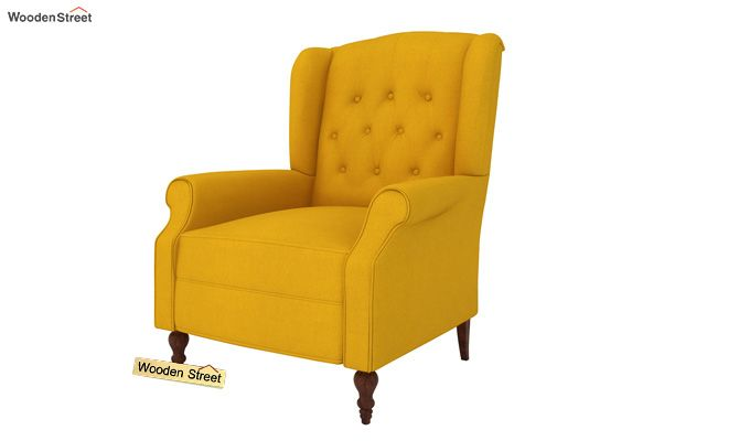 Botox Wingback Chair (Yellow Blush)-2