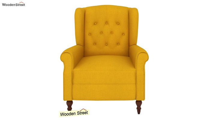 Botox Wingback Chair (Yellow Blush)-3