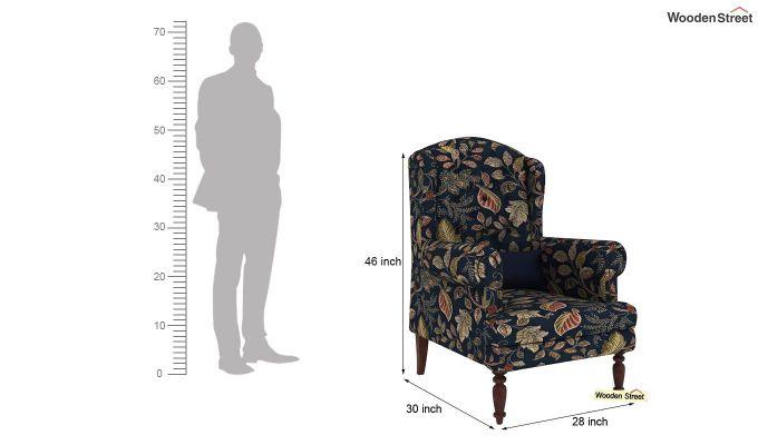 Danon Wingback Chair (Dusky Leaf)-4
