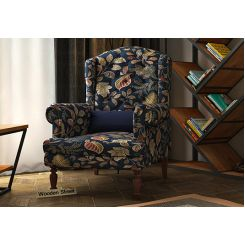 Danon Wingback Chair (Dusky Leaf)