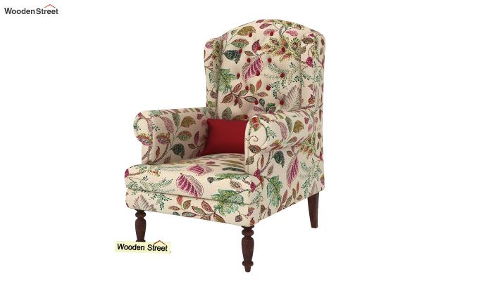 Danon Wingback Chair (Rosy Leaf)-2