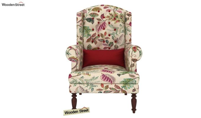 Danon Wingback Chair (Rosy Leaf)-3