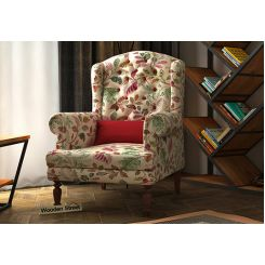 Danon Wingback Chair (Rosy Leaf)