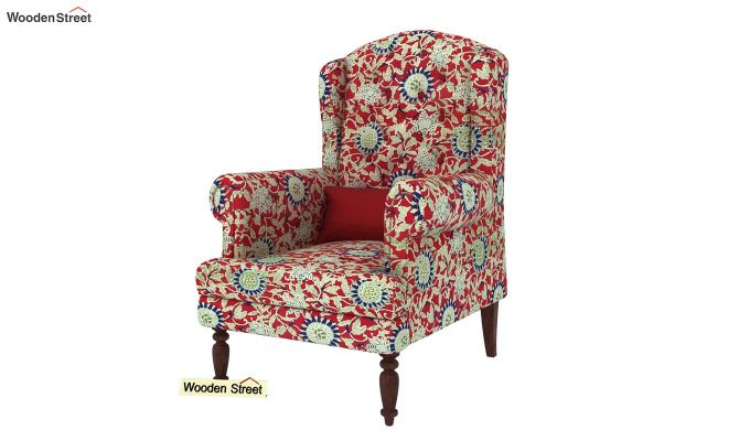 Danon Wingback Chair (Scarlet Blue)-2
