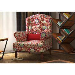 Danon Wingback Chair (Scarlet Blue)