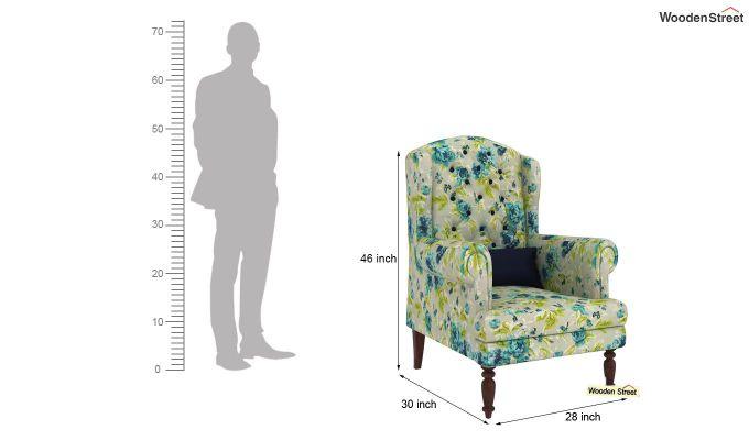 Danon Lounge Chair (Teal Tulip)-4