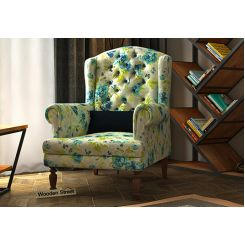 Danon Wingback Chair (Teal Tulip)