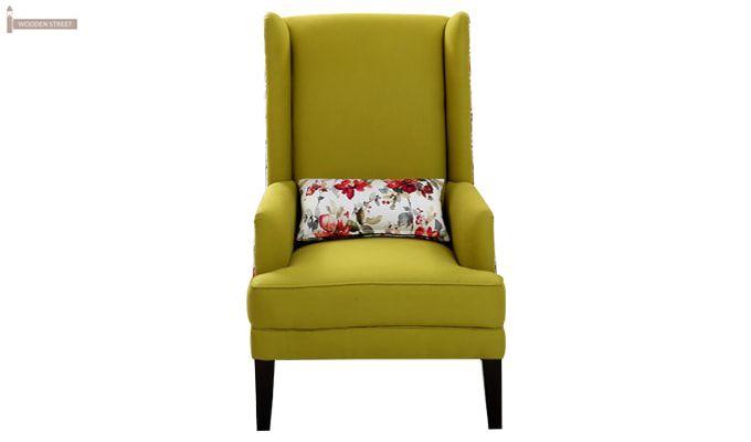 Edwina Wingback Chair (Canary Green)-2