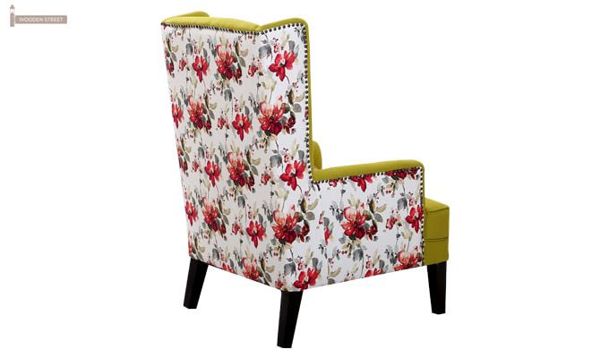 Edwina Wingback Chair (Canary Green)-4