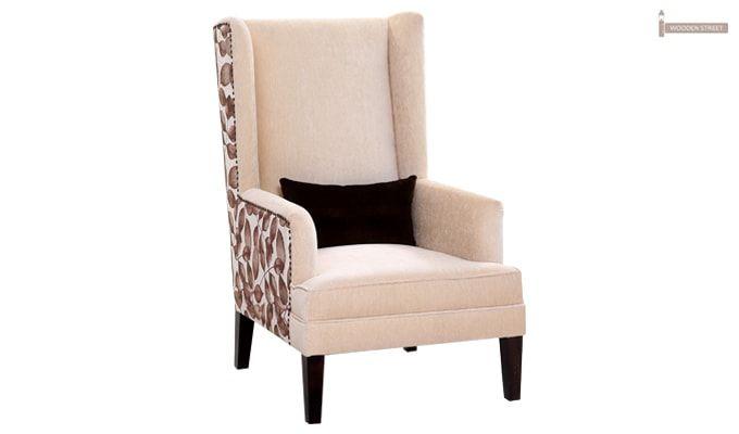 Edwina Wingback Chair (Ivory)-1