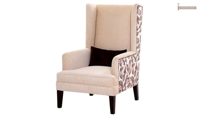 Edwina Wingback Chair (Ivory)-2