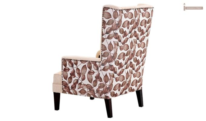 Edwina Wingback Chair (Ivory)-4