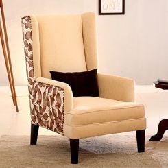 Edwina Wingback Chair (Ivory)