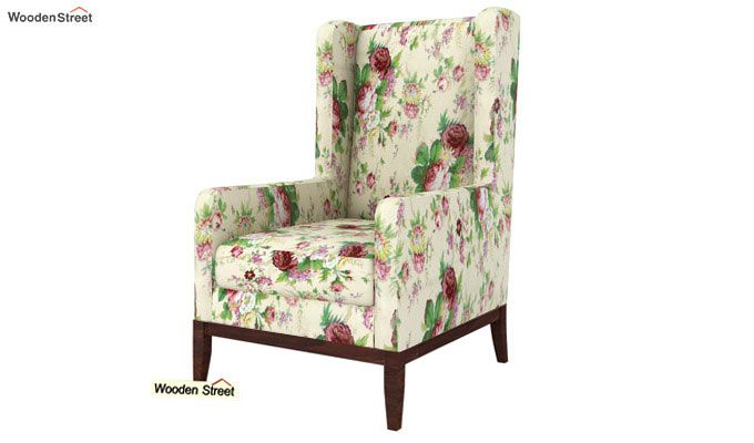 Joan Lounge Chair (Cream Blossom)-2