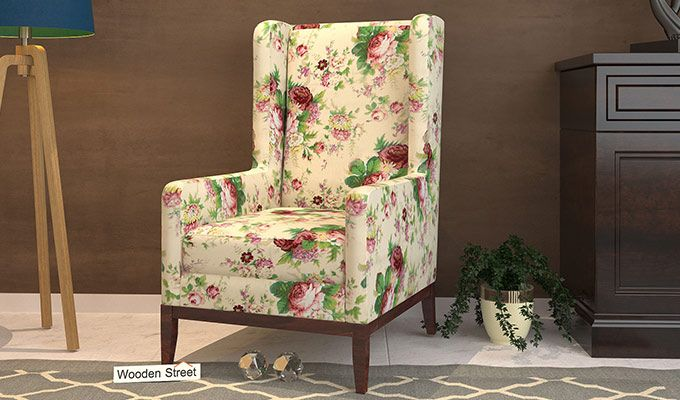 Joan Lounge Chair (Cream Blossom)-1
