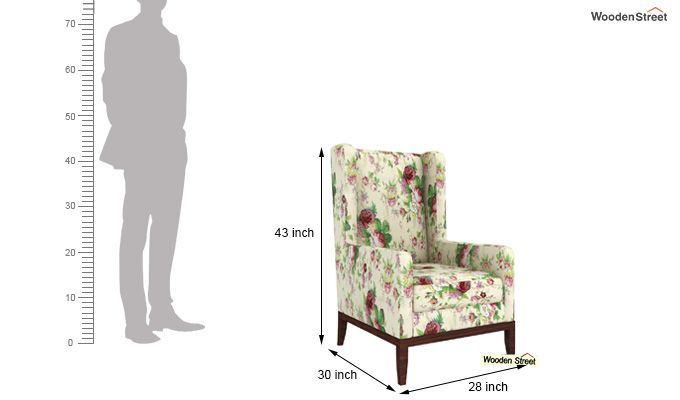 Joan Lounge Chair (Cream Blossom)-4