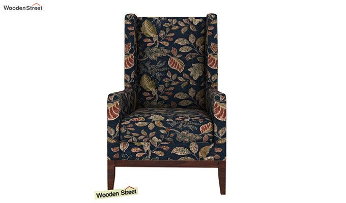 Joan Wingback Chair (Dusky Leaf)-3