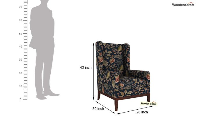 Joan Wingback Chair (Dusky Leaf)-4