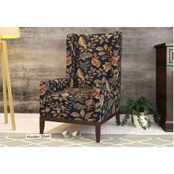 Joan Wingback Chair (Dusky Leaf)