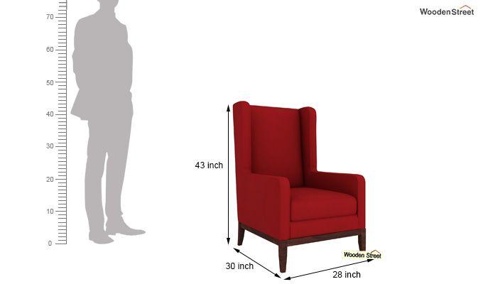 Joan Wingback Chair (Dusky Rose)-4