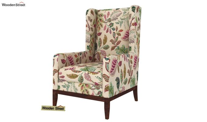 Joan Wingback Chair (Rosy Leaf)-2