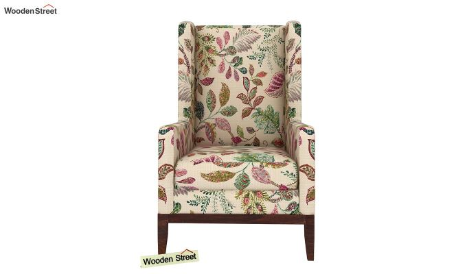 Joan Wingback Chair (Rosy Leaf)-3