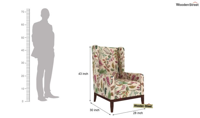 Joan Wingback Chair (Rosy Leaf)-4