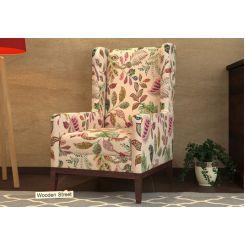 Joan Wingback Chair (Rosy Leaf)