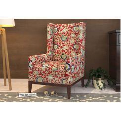 Joan Wingback Chair (Scarlet Blue)