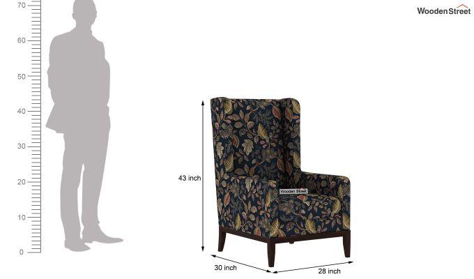 Joan Wingback Chair (Dusky Leaf)-4