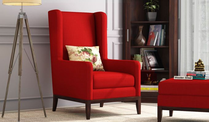 Joan Wingback Chair (Dusky Rose)-1