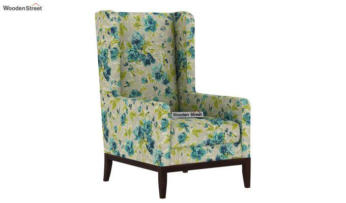 Joan Wingback Chair (Fabric, Teal Tulip)-2