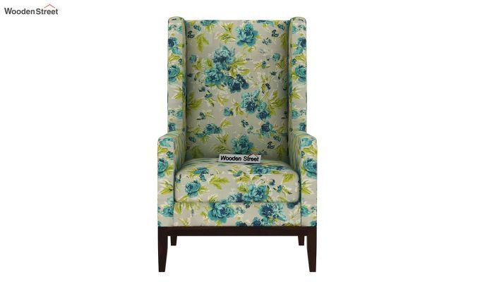 Joan Wingback Chair (Fabric, Teal Tulip)-3