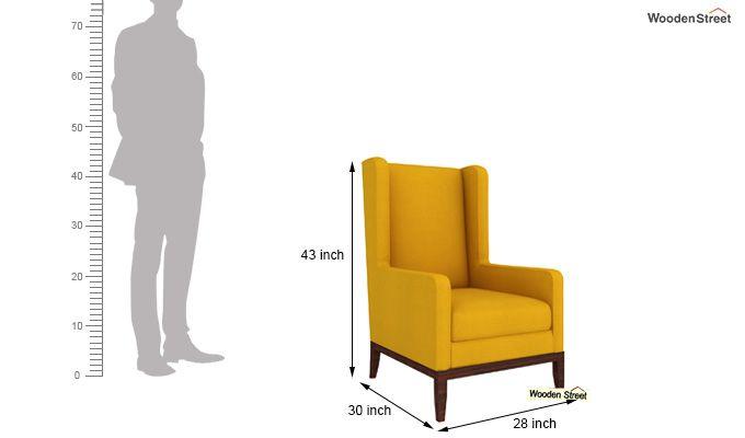 Joan Wingback Chair (Yellow Blush)-4