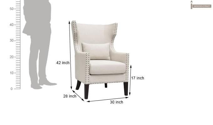 Taffy Wing Chair (White)-6