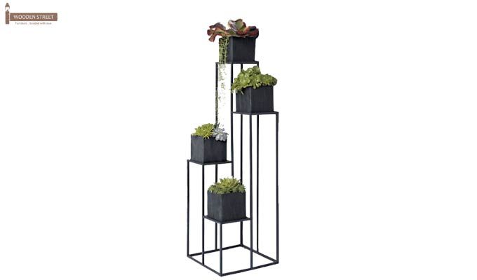 Avast Plant Stand- Set of 3 (Black Finish)-1
